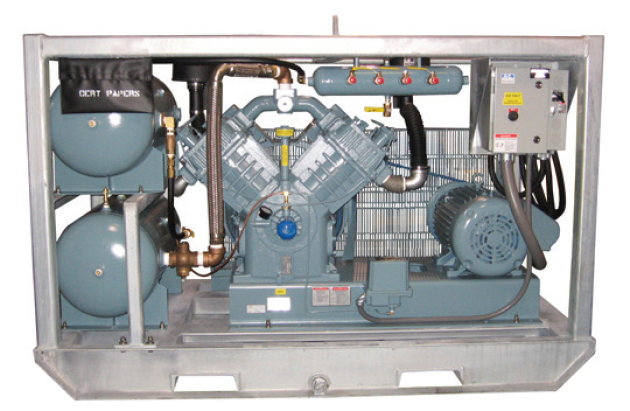 Compressor Package 5120 Electric, skid, dual volume tanks